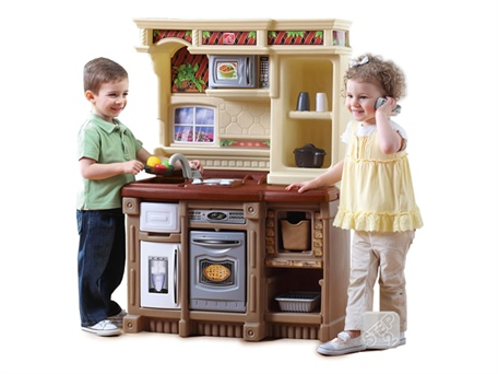 Toddler kitchen play set sale deal over new for Kids kitchen set sale