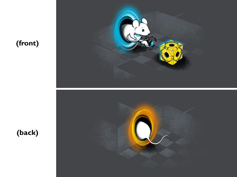 Portal 2 inspired design